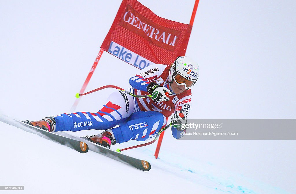 <a gi-track='captionPersonalityLinkClicked' href=/galleries/search?phrase=Marion+Rolland&family=editorial&specificpeople=2085752 ng-click='$event.stopPropagation()'>Marion Rolland</a> of France competes during the Audi FIS Alpine Ski World Cup Women's Downhill on November 30, 2012 in Lake Louise, Canada.