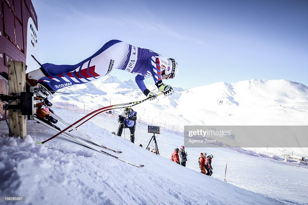 <a gi-track='captionPersonalityLinkClicked' href=/galleries/search?phrase=Marion+Rolland&family=editorial&specificpeople=2085752 ng-click='$event.stopPropagation()'>Marion Rolland</a> of France competes during the Audi FIS Alpine Ski World Cup Women's Downhill training on December 12, 2012 in Val-d'Isere, France.