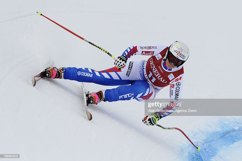 <a gi-track='captionPersonalityLinkClicked' href=/galleries/search?phrase=Marion+Rolland&family=editorial&specificpeople=2085752 ng-click='$event.stopPropagation()'>Marion Rolland</a> of France competes during the Audi FIS Alpine Ski World Cup Women's Downhill on December 14, 2012 in Val d'Isere, France.