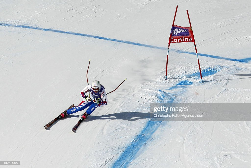 <a gi-track='captionPersonalityLinkClicked' href=/galleries/search?phrase=Marion+Rolland&family=editorial&specificpeople=2085752 ng-click='$event.stopPropagation()'>Marion Rolland</a> of France competes during the Audi FIS Alpine Ski World Cup Women's Downhill on January 19, 2013 in Cortina d'Ampezzo, Italy.