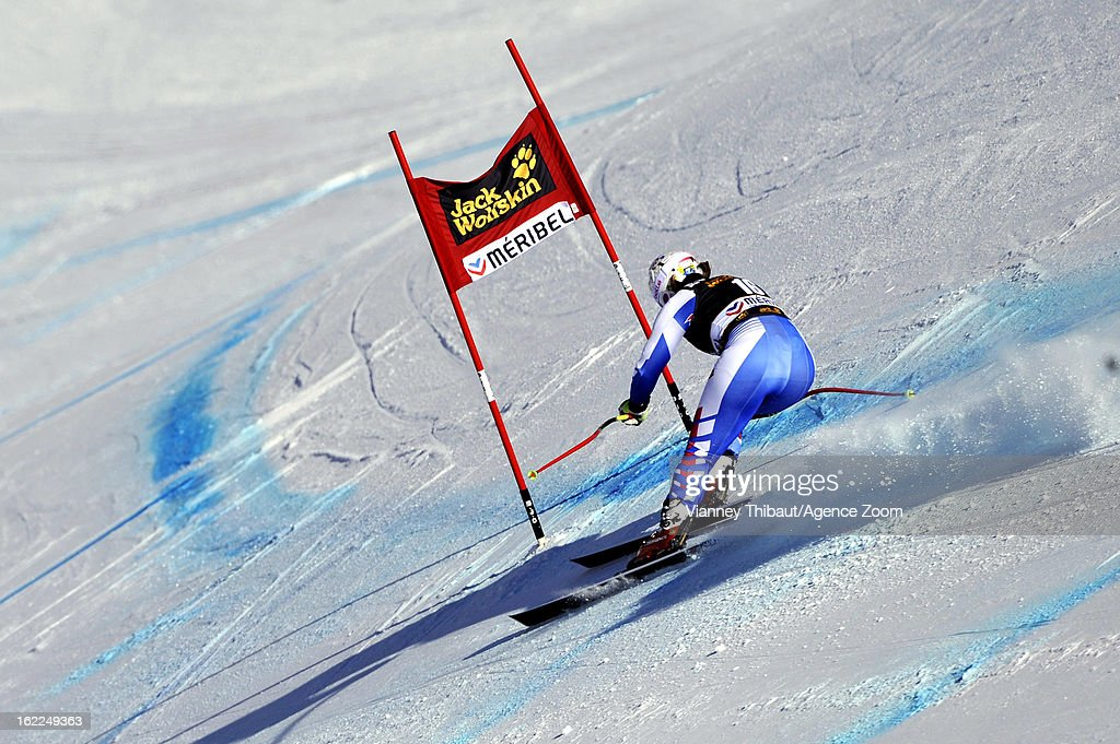 <a gi-track='captionPersonalityLinkClicked' href=/galleries/search?phrase=Marion+Rolland&family=editorial&specificpeople=2085752 ng-click='$event.stopPropagation()'>Marion Rolland</a> of France competes during the Audi FIS Alpine Ski World Cup Women's Downhill Training on February 21, 2013 in Meribel, France.