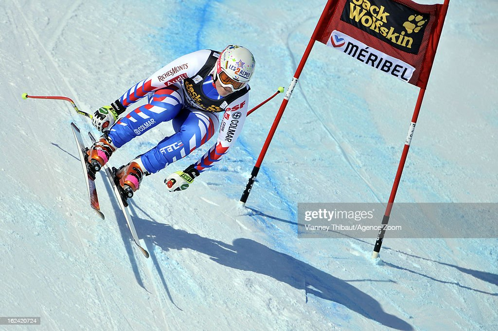 <a gi-track='captionPersonalityLinkClicked' href=/galleries/search?phrase=Marion+Rolland&family=editorial&specificpeople=2085752 ng-click='$event.stopPropagation()'>Marion Rolland</a> of France competes during the Audi FIS Alpine Ski World Cup Women's Downhill on February 23, 2013 in Meribel, France.