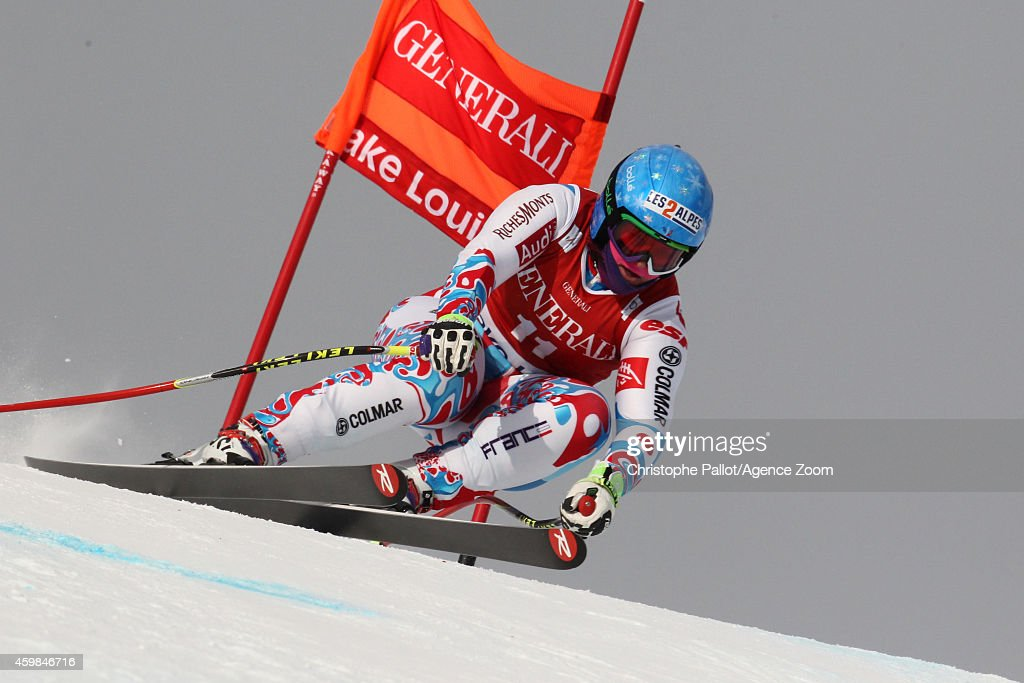 <a gi-track='captionPersonalityLinkClicked' href=/galleries/search?phrase=Marion+Rolland&family=editorial&specificpeople=2085752 ng-click='$event.stopPropagation()'>Marion Rolland</a> of France during the Audi FIS Alpine Ski World Cup Women's Downhill Training on December 02, 2014 in Lake Louise, Canada.