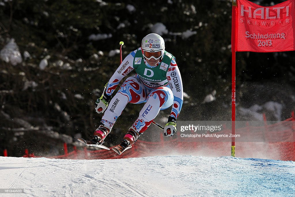 <a gi-track='captionPersonalityLinkClicked' href=/galleries/search?phrase=Marion+Rolland&family=editorial&specificpeople=2085752 ng-click='$event.stopPropagation()'>Marion Rolland</a> of France wins the gold medal during the Audi FIS Alpine Ski World Championships Women's Downhill on February 10, 2013 in Schladming, Austria.