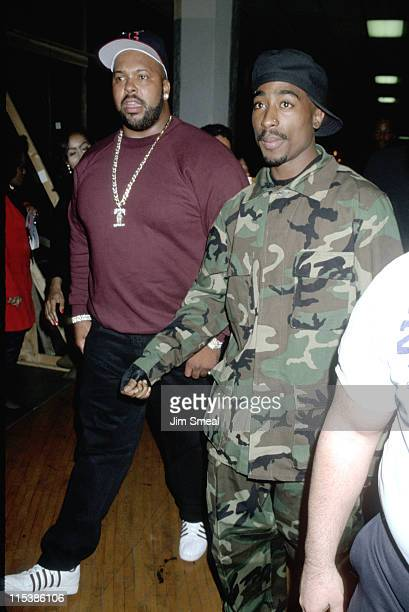 Marion Suge Knight and Tupac Shakur during 10th Annual Soul Train Music Awards at Shrine Auditorium in Los Angeles California United States