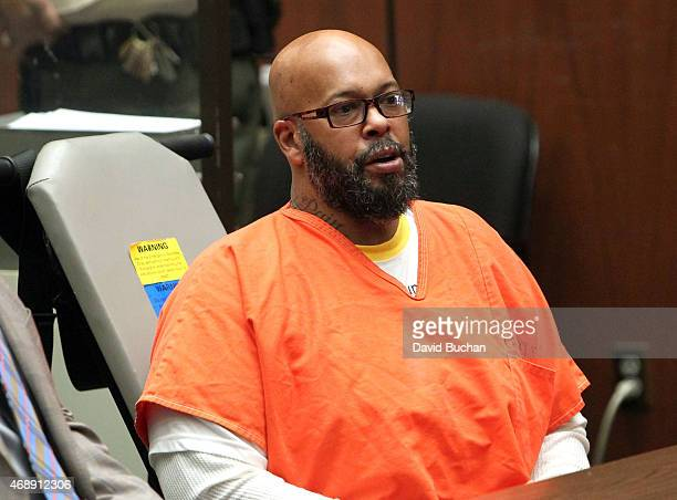 Marion 'Suge' Knight appears in court with his Lawyer Matthew P Fletcher for a preliminary hearing in a robbery charge case at Criminal Courts...