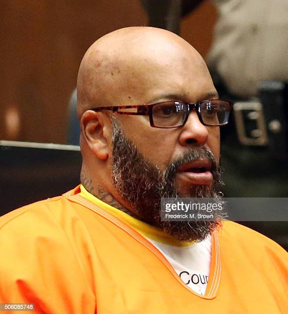 Marion 'Suge' Knight appears in Los Angeles court for a pretrial hearing at the Clara Shortridge Foltz Criminal Justice Center on January 21 2016 in...