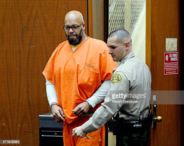 Marion 'Suge' Knight who is charged with murder attempted murder and hitandrun for allegedly running down two men in Compton killing one of them...