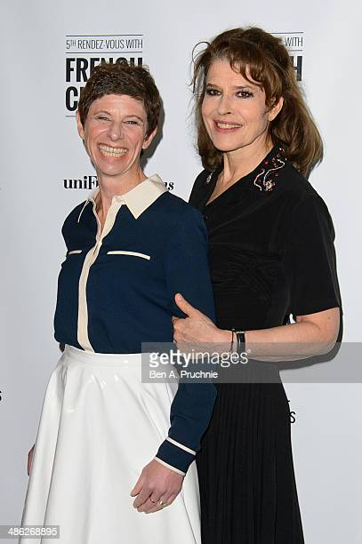 Marion Vernoux and Fanny Ardant attend the RendezVous with French Cinema opening night premiere of 'Bright Days Ahead' at The Curzon Sohoon April 23...