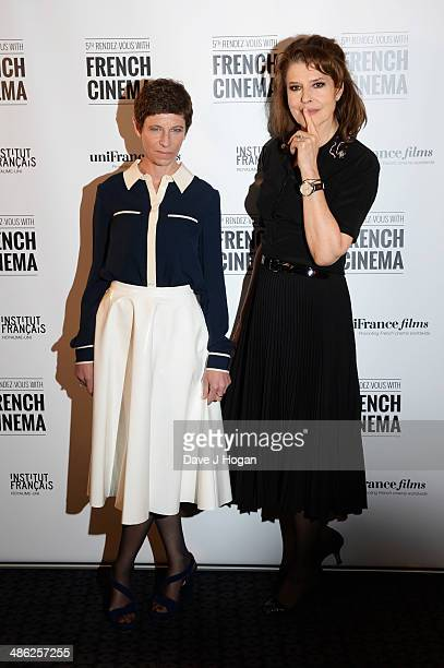 Marion Vernoux and Fanny Ardant attends the RendezVous With French Cinema Opening Night Premiere for 'Bright Days Ahead' at The Curzon Soho on April...