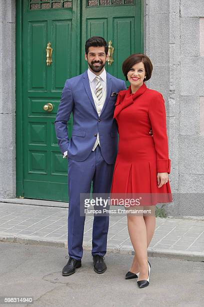 Mariona Ribas and Miguel Angel Munoz attend 'Amar Es Para Siempre' photocall at Cars Studios on August 31 2016 in Madrid Spain