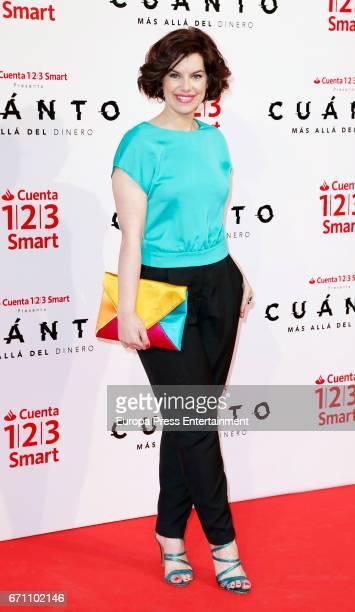 Mariona Ribas attends the 'CuantoMas Alla del DInero' premiere at Callao cinema on April 20 2017 in Madrid Spain