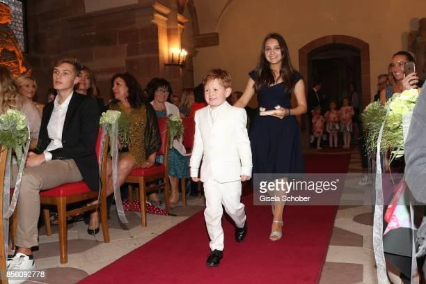 Maris Atalay son of Erdogan and Katja and Amira 'Pauletta' Pollmann daughter of Erdogan Atalay during the church wedding of Erdogan Atalay and Katja...