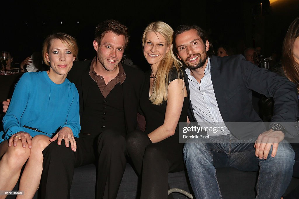 Marisa Bach, Ken Duken, Natascha Gruen and Quirin Berg attend 'Add a Friend' Preview Event of TNT Serie at Bayerischer Hof on April 30, 2013 in Munich, Germany. The second season series premieres on May 6 (every Monday at 8:15 pm on TNT Serie).