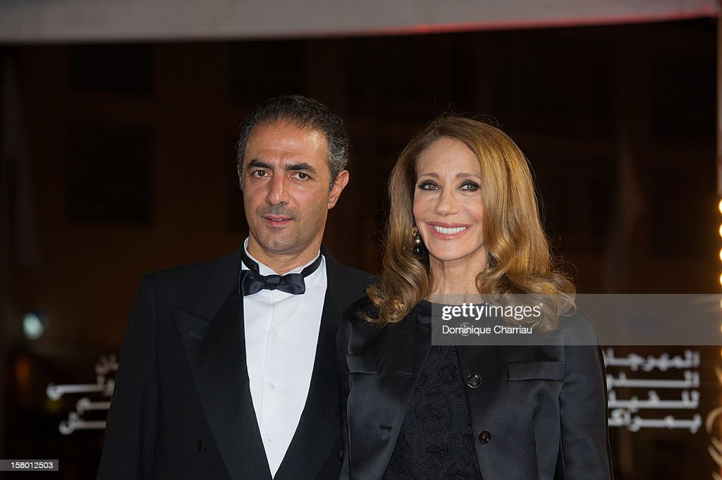 <a gi-track='captionPersonalityLinkClicked' href=/galleries/search?phrase=Marisa+Berenson&family=editorial&specificpeople=206844 ng-click='$event.stopPropagation()'>Marisa Berenson</a> (R) and guest arrives to the awrard ceremony of the 12th International Marrakech Film Festival on December 8, 2012 in Marrakech, Morocco.