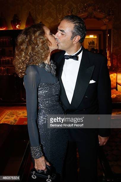 Marisa Berenson and Jean Michel Simonian attend The Children for Peace Gala at Cercle Interallie on December 12 2014 in Paris France