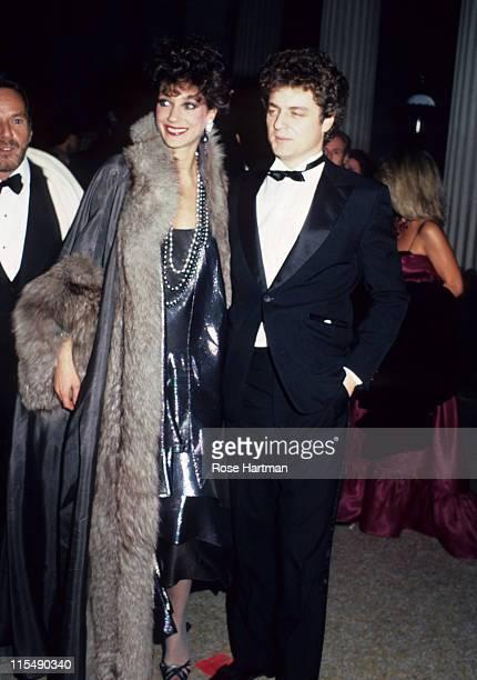 Marisa Berenson and Richard Golub during Metropolitan Museum Costume Gala 1982 in New York City New York United States