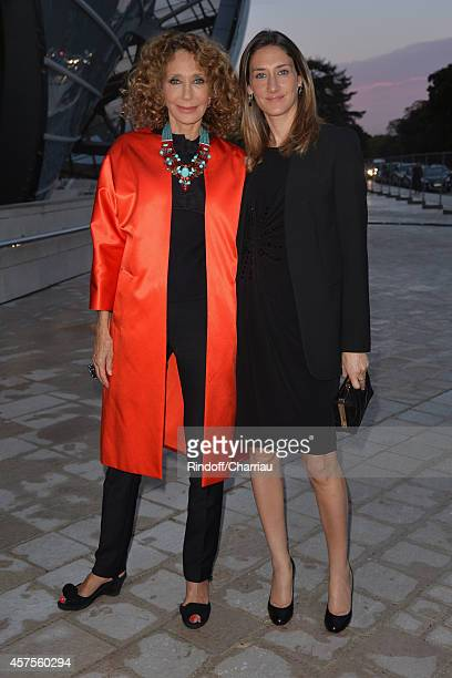 Marisa Berenson and Starlite Rendall attend the Foundation Louis Vuitton Opening at Foundation Louis Vuitton on October 20 2014 in...