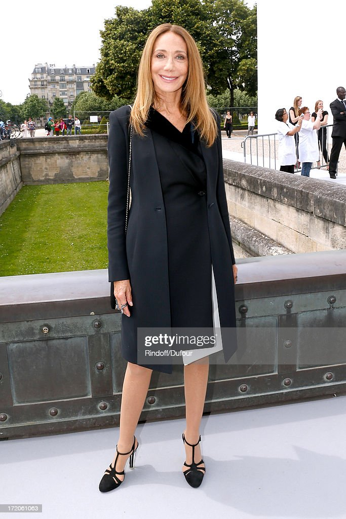 Marisa Berenson arriving at the Christian Dior show as part of Paris Fashion Week Haute-Couture Fall/Winter 2013-2014 at on July 1, 2013 in Paris, France.