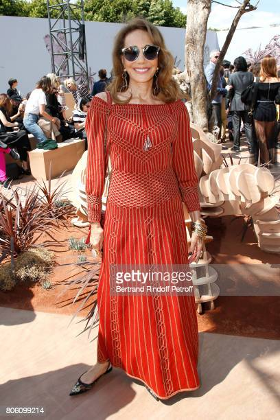 Marisa Berenson attends the Christian Dior Haute Couture Fall/Winter 20172018 show as part of Haute Couture Paris Fashion Week on July 3 2017 in...
