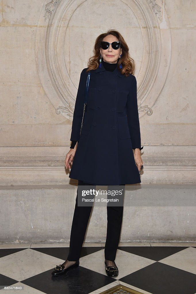 Marisa Berenson attends the Christian Dior Haute Couture Spring Summer 2017 show as part of Paris Fashion Week on January 23, 2017 in Paris, France.