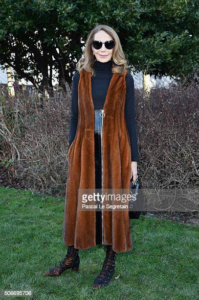 Marisa Berenson attends the Christian Dior Spring Summer 2016 show as part of Paris Fashion Week on January 25 2016 in Paris France