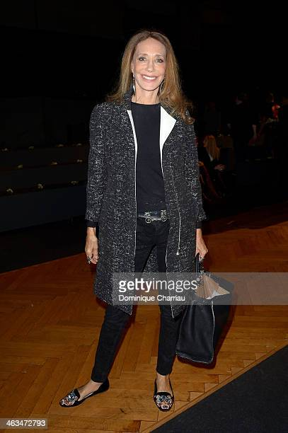 Marisa Berenson attends the Dior Homme Menswear Fall/Winter 20142015 show as part of Paris Fashion Week on January 18 2014 in Paris France