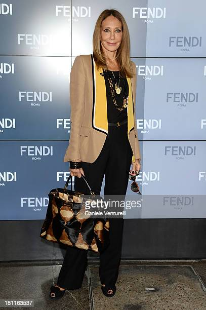 Marisa Berenson attends the Fendi show as a part of Milan Fashion Week Womenswear Spring/Summer 2014 on September 19 2013 in Milan Italy
