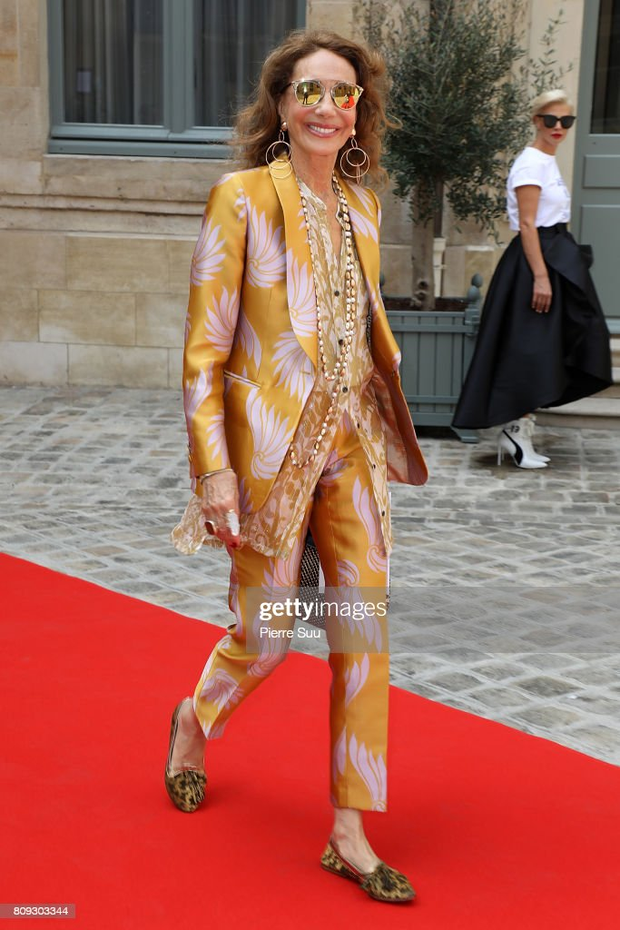 Marisa Berenson attends the Gyunel Haute Couture Fall/Winter 2017-2018 show as part of Haute Couture Paris Fashion Week on July 5, 2017 in Paris, France.