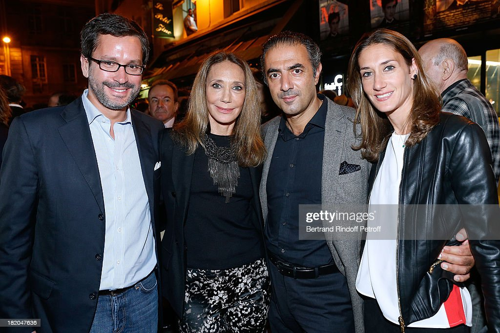 <a gi-track='captionPersonalityLinkClicked' href=/galleries/search?phrase=Marisa+Berenson&family=editorial&specificpeople=206844 ng-click='$event.stopPropagation()'>Marisa Berenson</a> (2nd L), her companion Jean-Michel Simonian (2dn R), her daghter Starlie (1st R) and the husband of her daughter (1st L) attend the 'Opium' movie premiere, held at Cinema Saint Germain in Paris on September 27, 2013 in Paris, France.