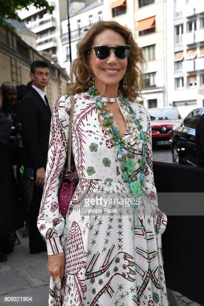 Marisa Berenson is seen arriving at Valentino fashion show during the Paris Fashion Week Haute Couture Fall/Winter 20172018 on July 5 2017 in Paris...