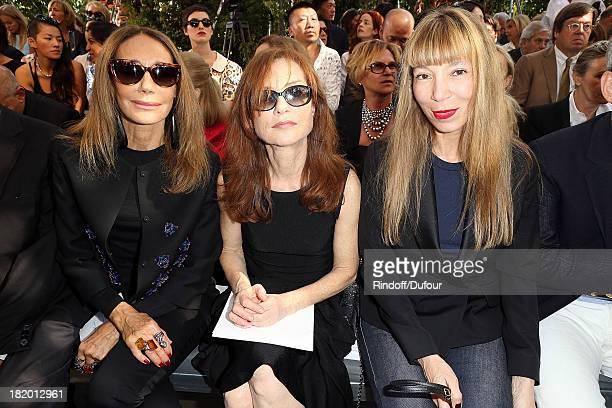 Marisa Berenson Isabelle Huppert and Victoire de Castelane attend Christian Dior show as part of the Paris Fashion Week Womenswear Spring/Summer 2014...