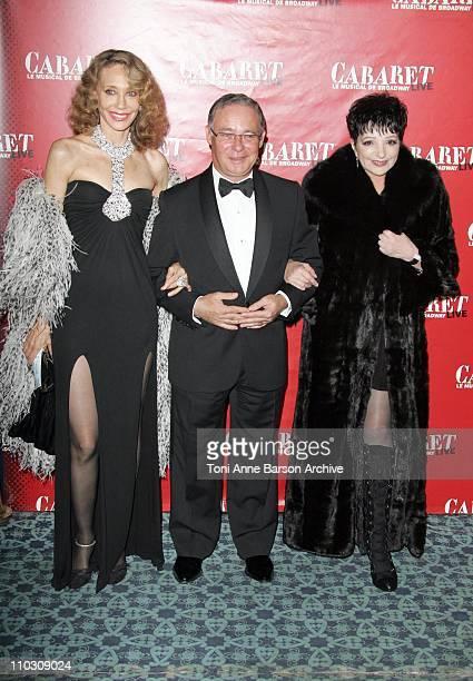 Marisa Berenson Liza Minnelli and Guest during 'Cabaret' Le Musical de Broadway Live Premiere Arrivals at Les Folies Bergeres in Paris France