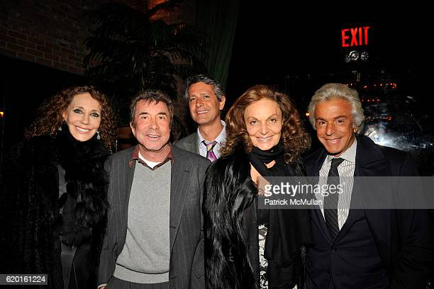 Marisa Berenson Sandy Gallin Diane von Furstenberg and Giancarlo Giametti attend THE CINEMA SOCIETY DETAILS host a screening of 'MILK' at Landmark...