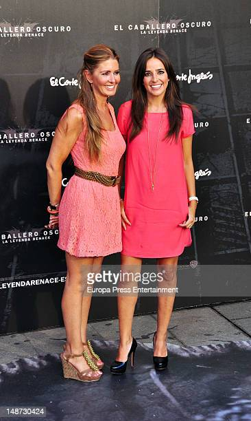 Marisa Blazquez and Carmen Alcayde attend 'The Dark Knight Rises' premiere at Callao Cinema on July 18 2012 in Madrid Spain