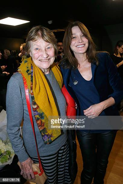 Marisa BruniTedeschi and her daughter Carla Bruni Sarkozy attend the Charity Gala against Alzheimer's disease at Salle Pleyel on January 30 2017 in...