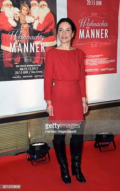 Marisa Burger attends the premiere of the film 'WeihnachtsMaenner' at Sendlinger Tor Kino on December 14 2015 in Munich Germany