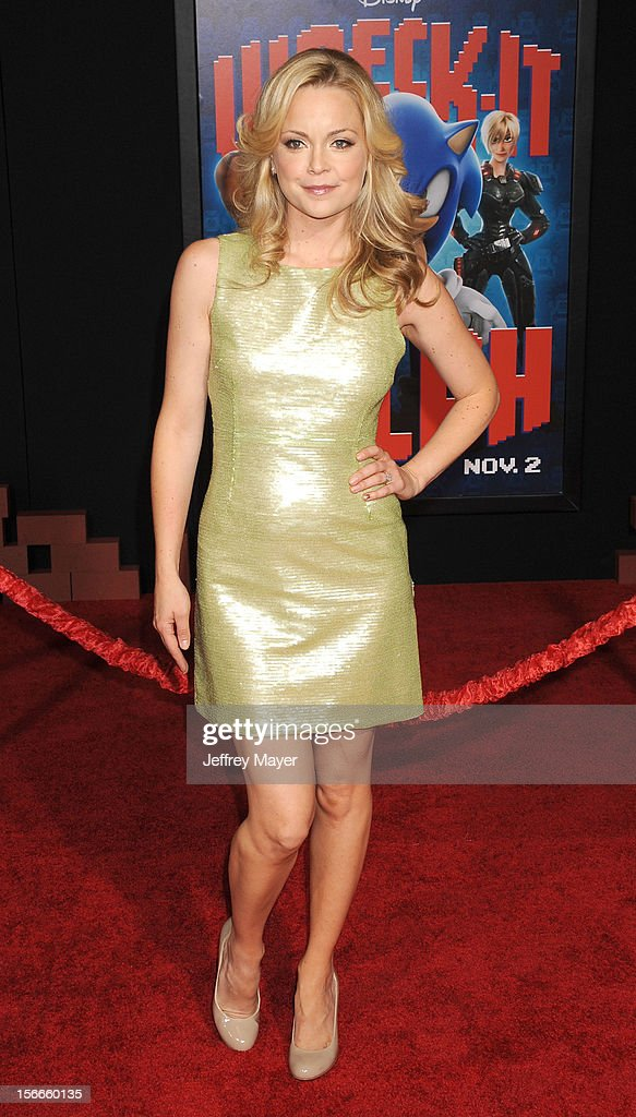 Marisa Coughlan arrives at the Los Angeles premiere of 'Wreck-It Ralph' at the El Capitan Theatre on October 29, 2012 in Hollywood, California.