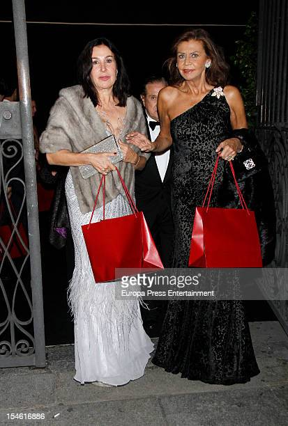 Marisa de Borbon and Carmen Martinez Bordiu attend 'Cartier Exhibition' gala presentation at Thyssen Museum on October 22 2012 in Madrid Spain