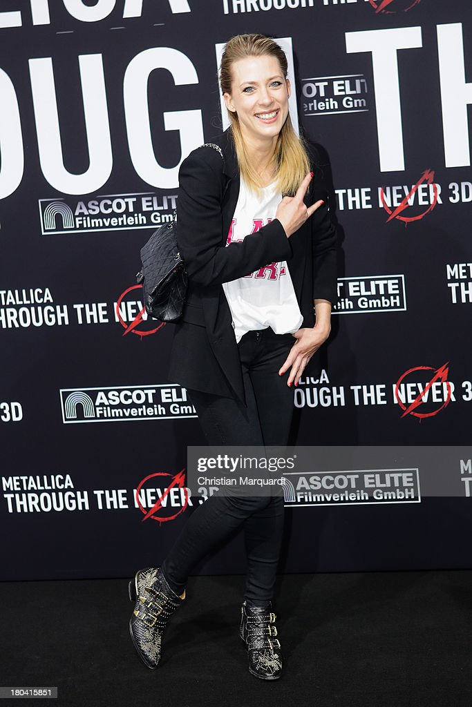 Marisa Duken attends the German premiere of 'Metallica - Through The Never' on September 12, 2013 in Berlin, Germany.