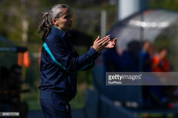 Marisa Gomes of Portugal during the UEFA U17 Women's Championship Qualifier match between Spain and Portugal at Cidade do Futebol stadium on March 28...