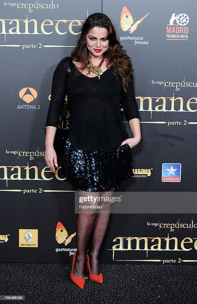 Marisa Jara attends the premiere of 'The Twilight Saga: Breaking Dawn - Part 2' (La Saga Crepusculo: Amanecer- Parte 2) at kinepolis Cinema on November 15, 2012 in Madrid, Spain.