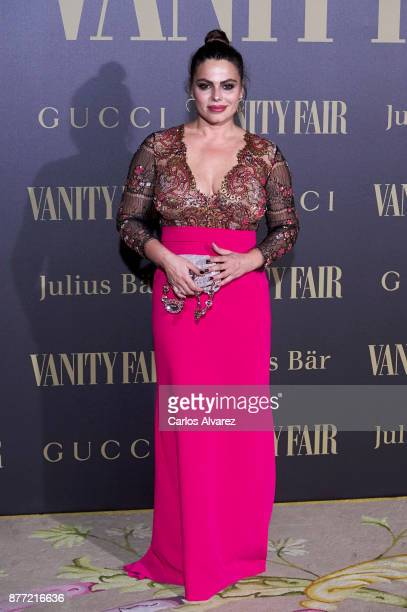 Marisa Jara attends the Vanity Fair Personality of the Year party at the Ritz Hotel on November 21 2017 in Madrid Spain