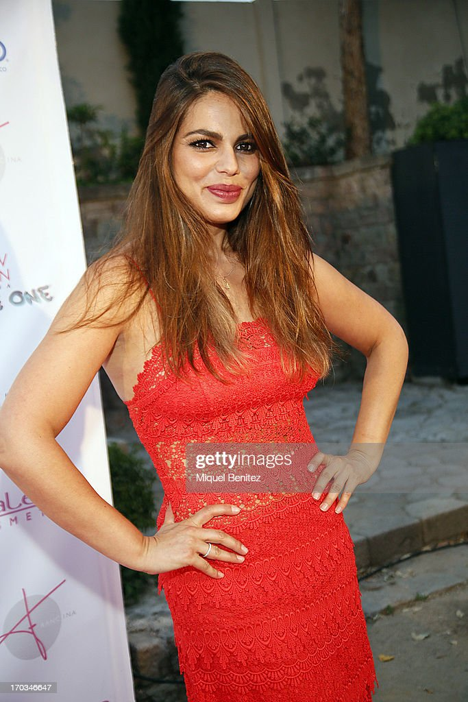 <a gi-track='captionPersonalityLinkClicked' href=/galleries/search?phrase=Marisa+Jara&family=editorial&specificpeople=624415 ng-click='$event.stopPropagation()'>Marisa Jara</a> poses on the red carpet of New Generation by Francina on June 11, 2013 in Barcelona, Spain.