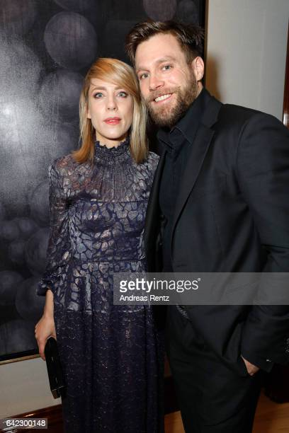Marisa Leonie Bach and Ken Duken attend the Medienboard BerlinBrandenburg Reception sponsored by Glashuette Original on February 9 2017 in Berlin...