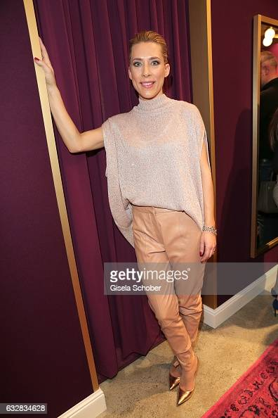Marisa Leonie Bach wearing an outfit by Talbot Runhof during the Talbot Runhof boutique opening at Schlueterstrasse on January 18 2017 in Berlin...