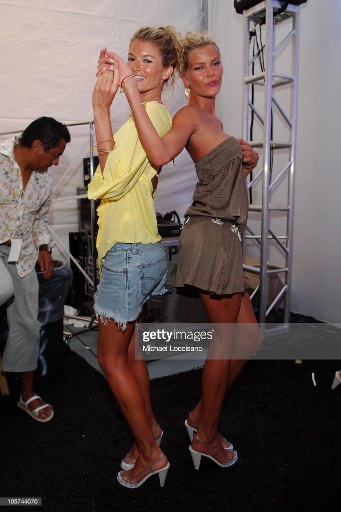Marisa Miller and May Andersen Backstage at Sais by Rosa Cha