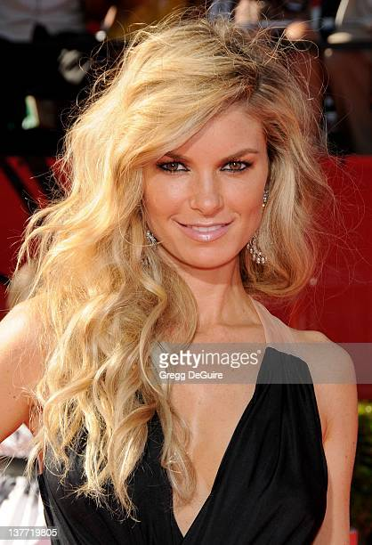 Marisa Miller arrives at the 2010 ESPY Awards at the Nokia Theatre LA Live on July 14 2010 in Los Angeles California