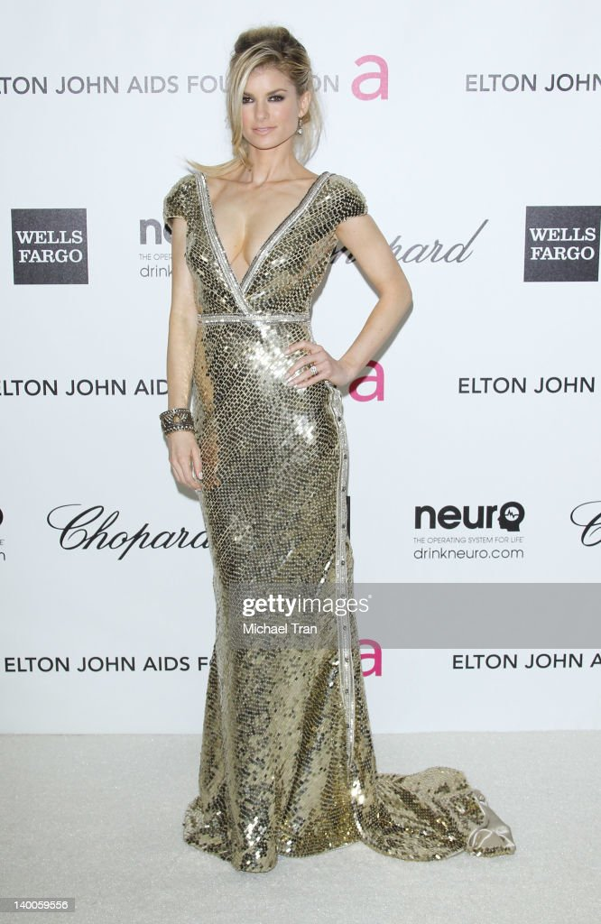 Marisa Miller arrives at the 20th Annual Elton John AIDS Foundation Academy Awards viewing party held across the street from the Pacific Design Center on February 26, 2012 in West Hollywood, California.