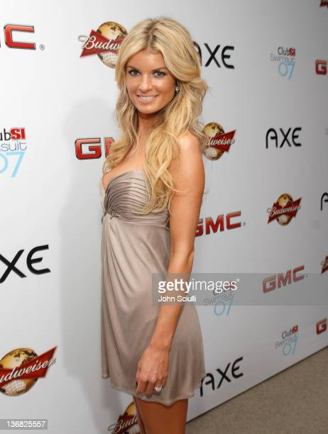 Marisa Miller during 2007 Sports Illustrated Swimsuit Issue Red Carpet at Pacific Design Center in Los Angeles California United States